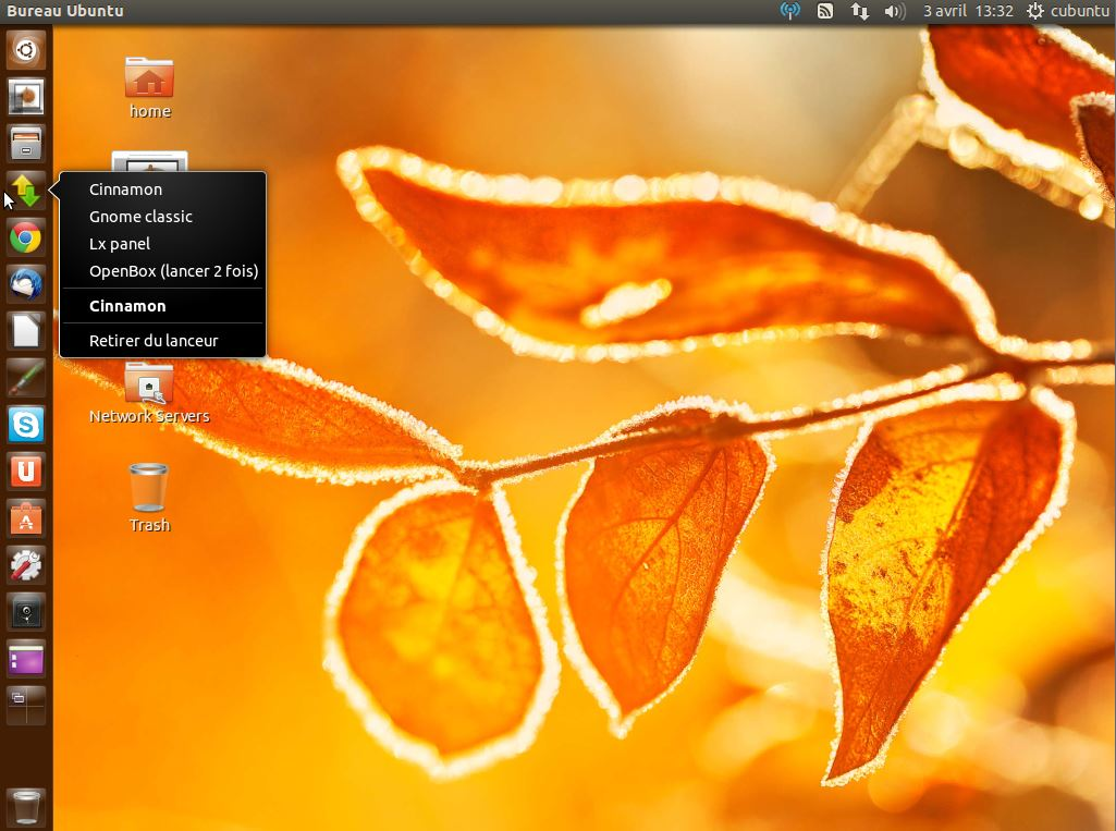 cubuntu : ubuntu + cinnamon + reglage luminosité ctrl+f8 & ctrl+f9